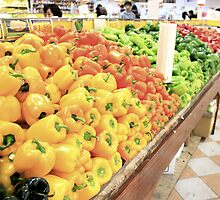 Colorful Peppers by Patsy Castle
