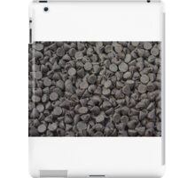 Chocolate chips background iPad Case/Skin