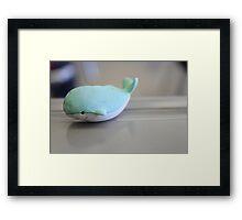 My Whale Eraser Framed Print