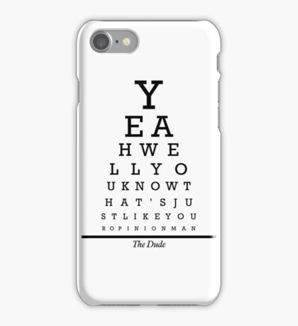 The Big Lebowski Eye Chart iPhone Case/Skin