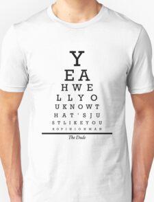 The Big Lebowski Eye Chart T-Shirt