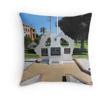 """The CENOTAPH at Evans Head. N.S.W. Throw Pillow"