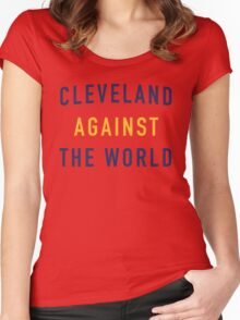 Cleveland Against the World - Cavs Red Women's Fitted Scoop T-Shirt