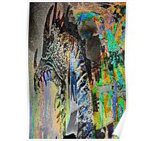 Dragon in Abstract Poster