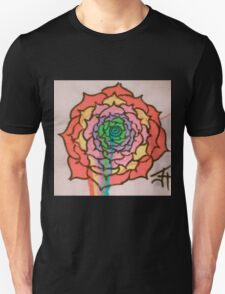 Melting Rainbow Rose Unisex T-Shirt