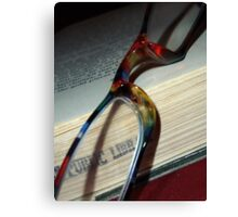 03-22-11:  Library Book Canvas Print