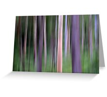 Purple Forest Impression Greeting Card