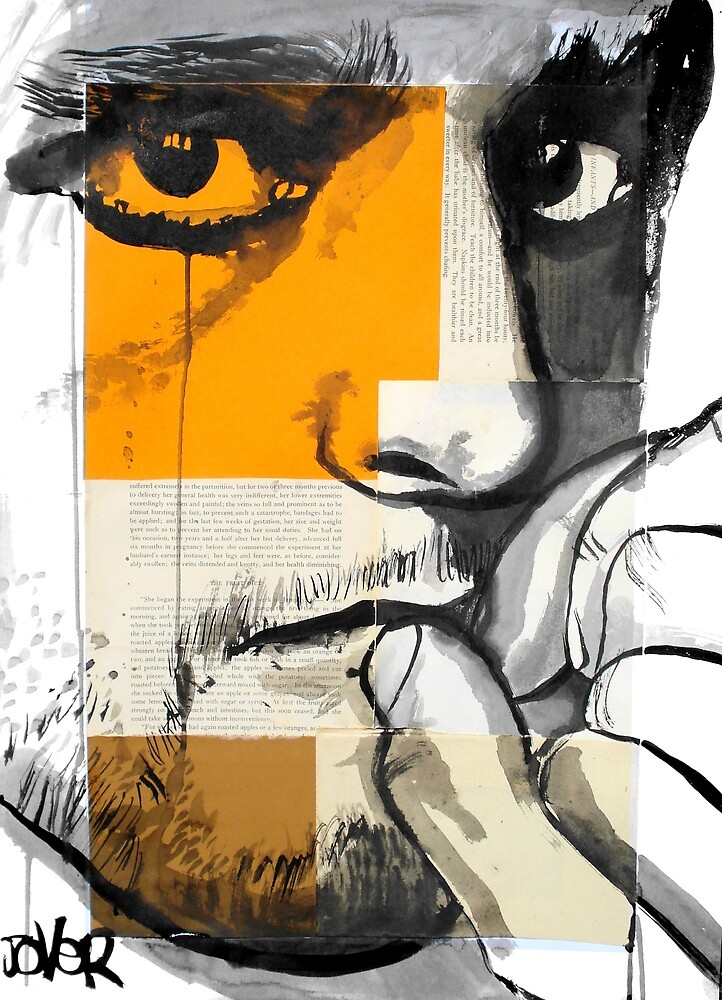 face on segmented paper by Loui  Jover