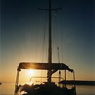 Sunset through the boat by ASSA