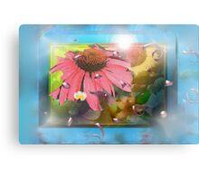 Flower shadowbox Canvas Print