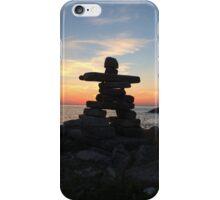 Inuksuit sunset iPhone Case/Skin