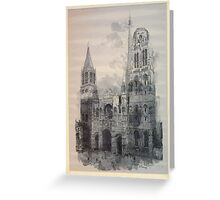 Auguste Lepère Façade of Rouen Cathedral by Auguste Lepère Greeting Card