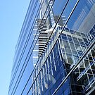 Reflection of the Melbourne Eureka  building. by ASSA