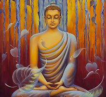 Buddha meditation by Yuliya Glavnaya
