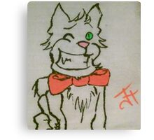 Winking Cat Canvas Print
