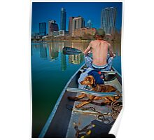 A Dude and A Dog on Austin Lake Poster
