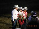 Cowboy and 2 CA Rodeo Queens by Sandra Gray