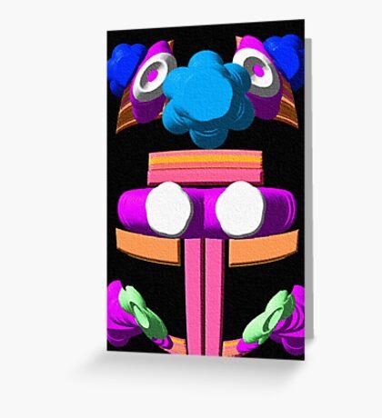 Alien Teddy Bear Greeting Card
