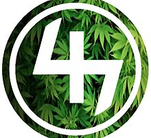 47 GREEN WEED LEAVES CIRCLE by SourKid