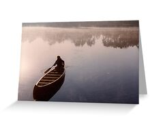 canoeing on Shadow Lake Greeting Card