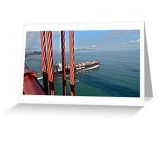 Coming In To Port Greeting Card