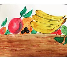 Table of Fruit, watercolor Photographic Print