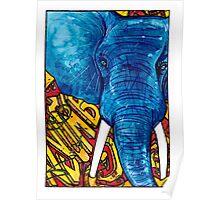 Nyumbani Graffiti Elephant Poster