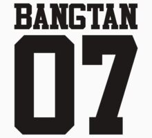 BTS/Bangtan Boys Jersey Style w/Number One Piece - Long Sleeve