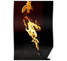 Red hot flames Poster