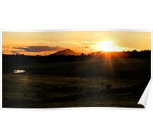 Sunset from Garbalino Poster