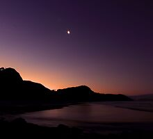 moonlit walks on the beach by KateMatheson