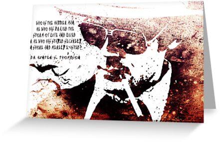 Hunter S. Thompson Quote by johnnyutahfbi