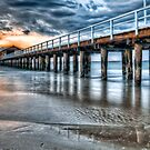 Queenscliff Pier At Dawn by shadesofcolor