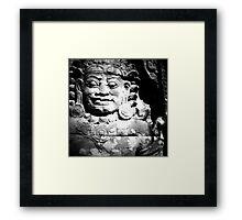 stone spirit, siem reap, cambodia Framed Print