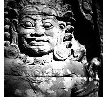 stone spirit, siem reap, cambodia Photographic Print