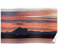 sunset over wollumbin Poster