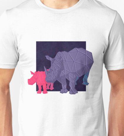 Geometric Rhinos Unisex T-Shirt
