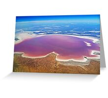 Lake Eyre - Aerial View Greeting Card