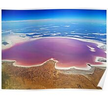Lake Eyre - Aerial View Poster
