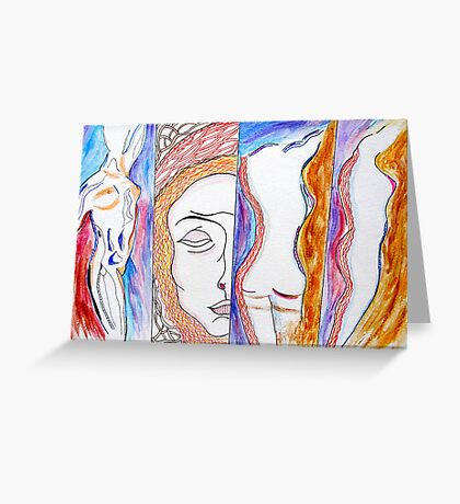 Personification of Grace. Greeting Card