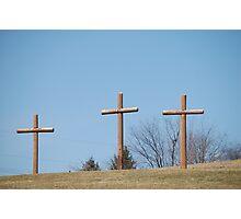 three wooden crosses Photographic Print
