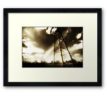 Water Tower Justin Texas Framed Print