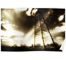 Water Tower Justin Texas Poster