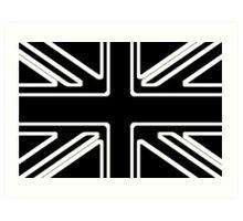 Black & White Union Flag Art Print