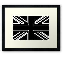 Black & White Union Flag Framed Print