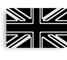 Black & White Union Flag Canvas Print
