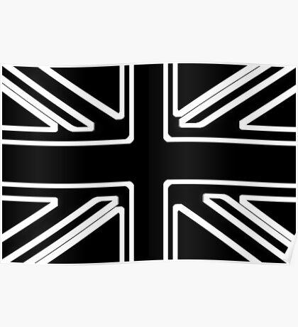 Black & White Union Flag Poster