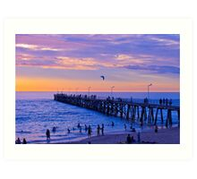Port Noarlunga Jetty @ dusk Art Print