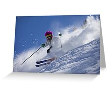 How to ski the bumps Greeting Card