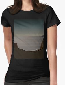 Surreal Sunset Womens Fitted T-Shirt